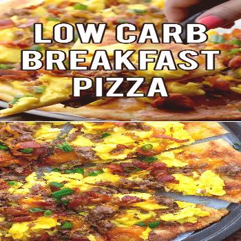 Low Carb Breakfast Pizza This breakfast pizza is low carb, packed with protein, and perfect for a k
