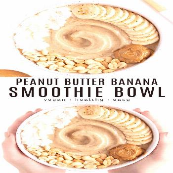 This peanut butter banana smoothie bowl recipe is healthy, easy, and packed with protein! Made with